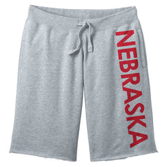 Men's Nebraska Fleece Shorts by RZR - Grey