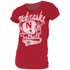Husker Football Tee by Adidas - SS - Red