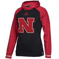 Women's 2016 Nebraska Sideline Player Hoody by Adidas - Red - LS