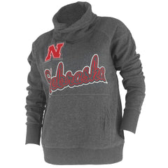 Women's Nebraska University Treker's Pullover - LS - Grey