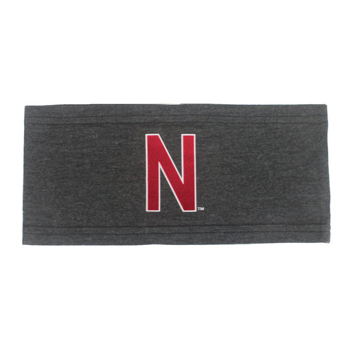 Nebraska Strong Yoga Headband - Grey