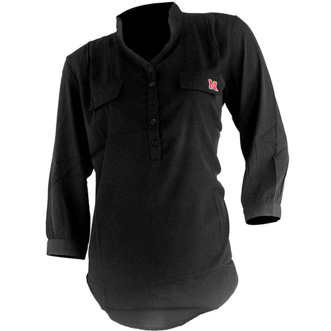 Nebraska Huskers Button Down Tunic - LS - Black