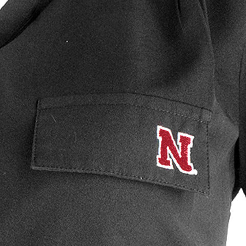 1 LEFT! Nebraska Huskers Button Down Tunic - LS - Black