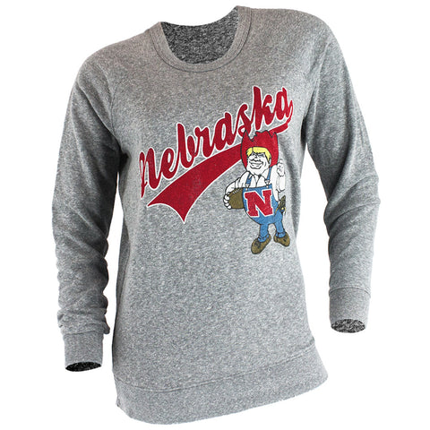Retro Herbie Pullover Sweatshirt - Grey - LS