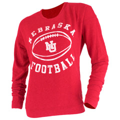 Vintage Nebraska Football Crew - Red - LS