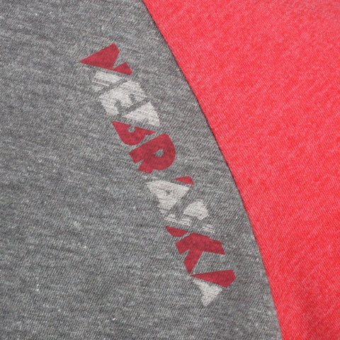 Stacked Nebraska Raglan - Grey - LS