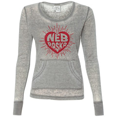 Women's Nebraska Heart Zen Thermal Top by RZR - Grey - LS
