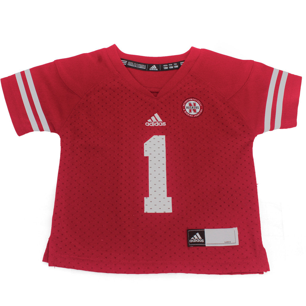 online store 4a493 0f404 Infant & Toddler #1 Nebraska Huskers Jersey by Adidas - SS - Red 42A6A
