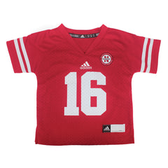 Infant & Toddler #16 Nebraska Huskers Jersey by Adidas - SS - Red