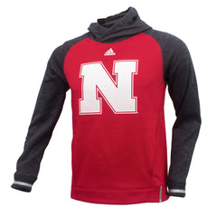 Youth Quarterback Hoody by Adidas - Red - LS