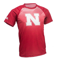 Youth Nebraska Huskers Stealth Climalite Crew by Adidas - SS - Red