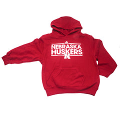 Youth Nebraska Husker Hoody by Adidas - LS - Red