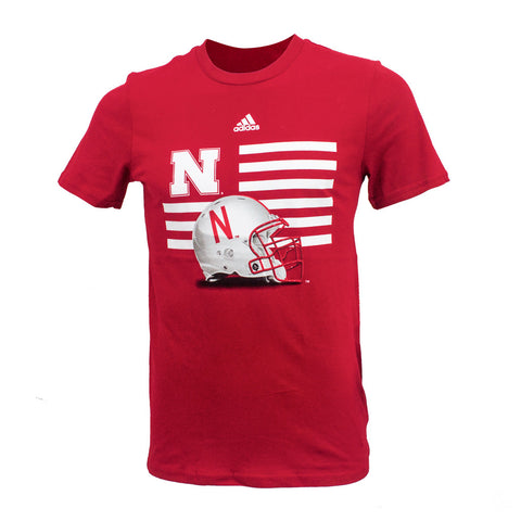 Youth Nebraska Prevent Defense Tee by Adidas - SS - Red