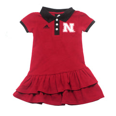Nebraska Husker Preppy Fan Polo Dress by Adidas - Red