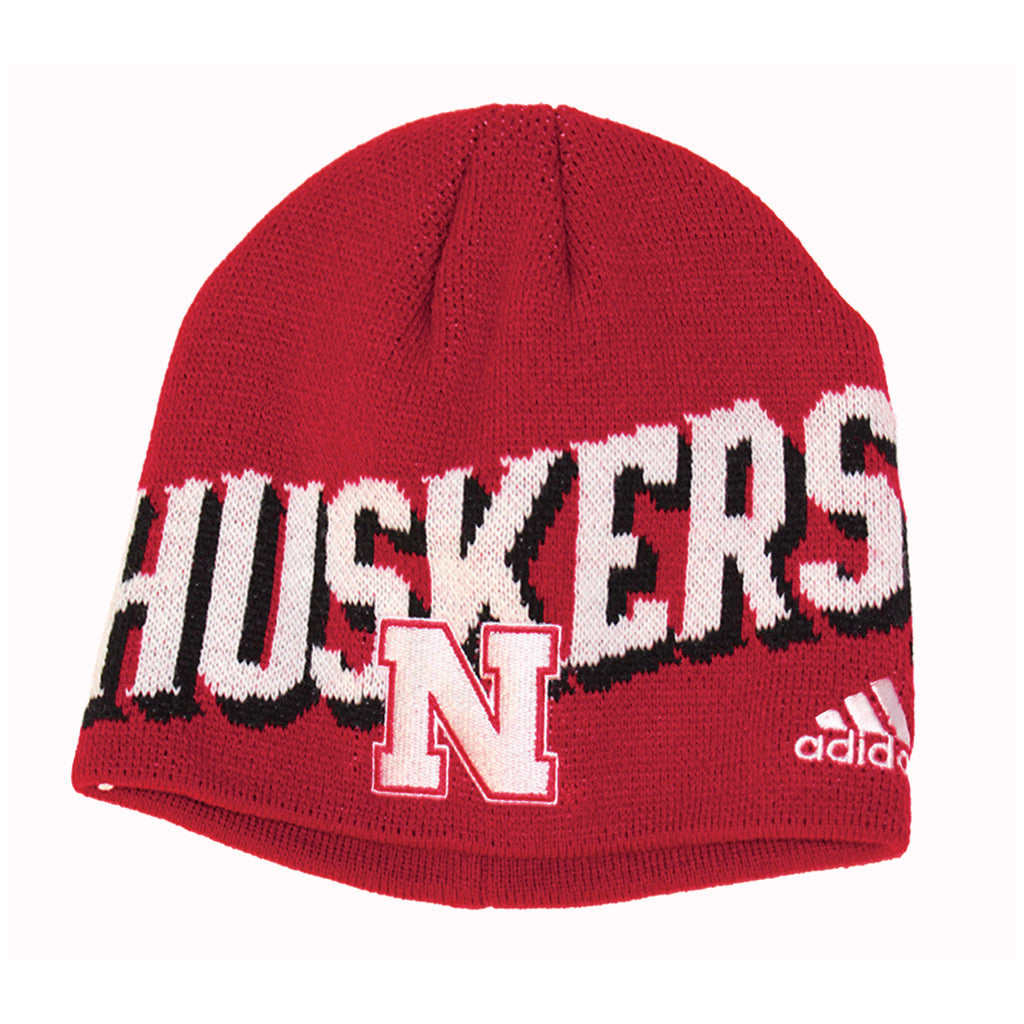 ... Youth Huskers Knit Beanie by Adidas - Red 4ee3940e43c