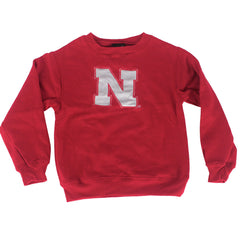 Youth Nebraska Red Adidas Prime Crew