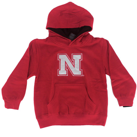 Youth Nebraska Husker Red Adidas Hoodie