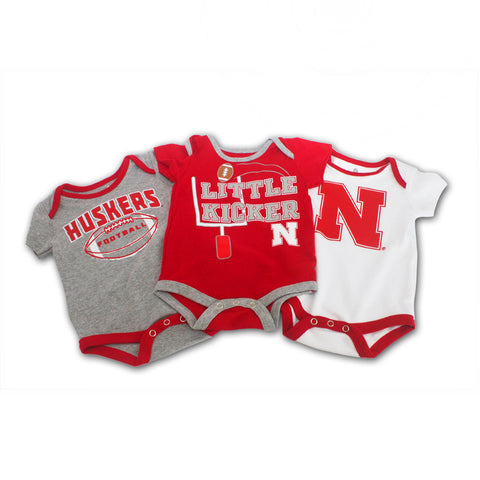 Nebraska Husker 3 Points Creeper Set by Adidas