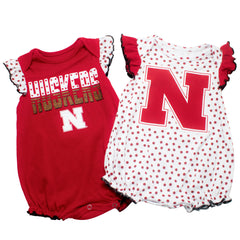Girls Nebraska 2 Piece Creeper Set by Adidas