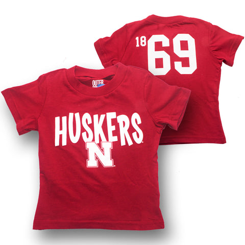 Infant & Toddler Husker Tee - SS - Red