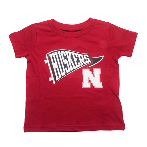 Infant & Toddler Husker Pennant Tee - SS - Red