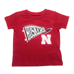 1 LEFT! Infant & Toddler Husker Pennant Tee - SS - Red