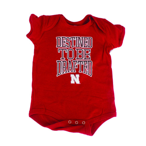 Nebraska Destined to be Drafted Newborn & Infant Creeper - Red