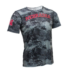 Youth Nebraska Sublimated Dri-Tek Tee by Adidas - SS - Black