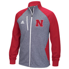 Nebraska Track Jacket - Gray - LS