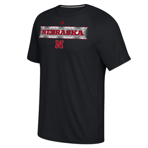 1 LEFT! Nebraska Fractured Band Climalite Tee by Adidas - Black - SS