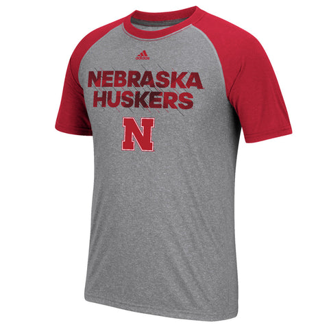 Nebraska Huskers In Motion Climalite Tee by Adidas - SS - Grey