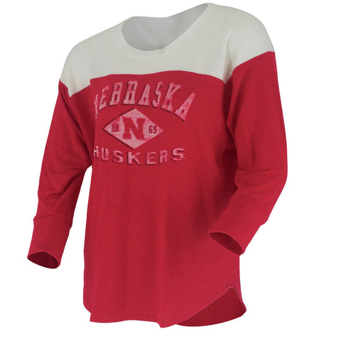 Nebraska Varsity Yolk Tee - Red - LS