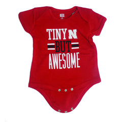 Nebraska Tiny But Awesome Newborn & Infant Creeper - Red