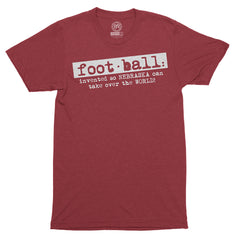 Men's Football Definition Tee by RZR-SS-Heather Red
