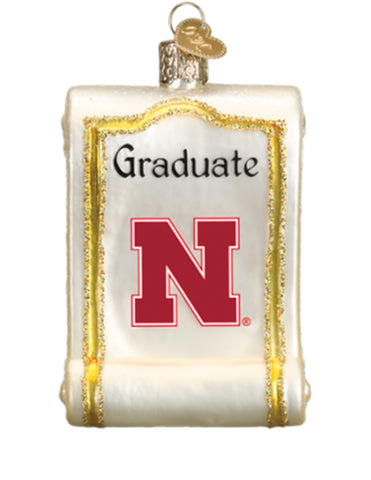 Nebraska Diploma Ornament