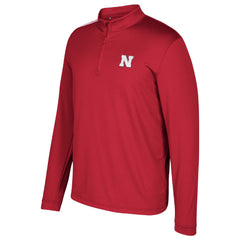 2017 Nebraska Huskers Sideline 1/4 Zip by Adidas - Red - LS