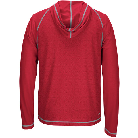 Men's Mark My Words Ultimate Hoodie Tee by Adidas-LS-Heather Red