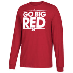Men's Go Big Red Go To Tee by Adidas-LS-Red