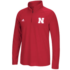 Men's  Left Chest Logo Set Ultimate 1/4 Zip by Adidas-LS_Red