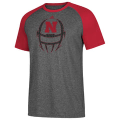 Men's White Noise Helmet Ultimate Contrast Tee By Adidas-SS-Grey