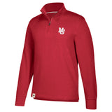 Men's Interlocking NU Varsity Lft Chest Lifestyle 1/4 Zip Sweatshirt by Adidas-LS-Red