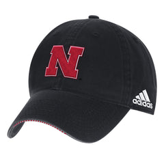 2017 Nebraska Football Coaches Adjustable Slouch Hat by Adidas-Black