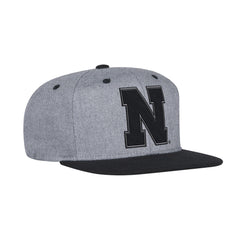 Men's Two Tone Tonal Flat Brim Snapback Hat by Adidas-Charcoal