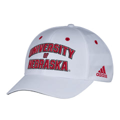 Men's White Sideline Structured Adjustable Hat by Adidas-White