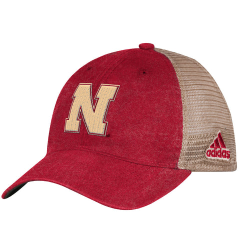 Men's Faded Snapback Slouch Trucker Hat by Adidas-Red