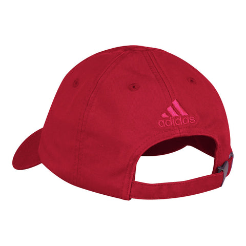 "Men's "" Dad"" Adjustable Slouch Hat by Adidas-Red"