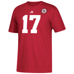 Men's #17 Alternate Jersey Replica Cotton Tee-SS-Red
