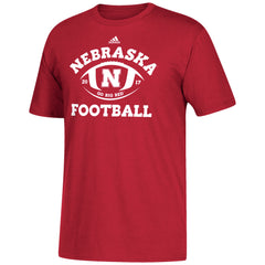 Nebraska Traditions Men's Tee by Adidas-SS-Red