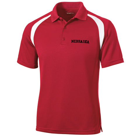 Men's  Performance Polo by RZR-SS-Red