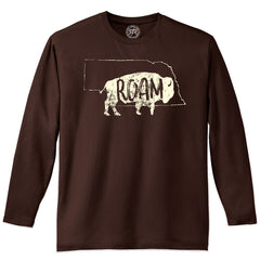Men's Nebraska Buffalo Roam Tee-LS-Expresso
